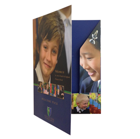 A4 Matt laminated presentation folders   2 sides