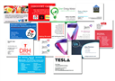 Double side gloss laminated business cards