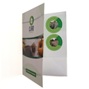 A4 Gloss laminated presentation folder ,2 side with gloss lamination 1 side
