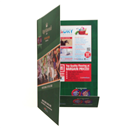 A4 Gloss laminated presentation folder ,2 side with gloss lamination 2 side